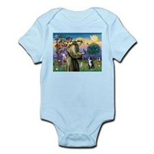 St Francis & Boston Terrier Infant Bodysuit