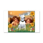 Cherubs / Bull Terrier Car Magnet 20 x 12
