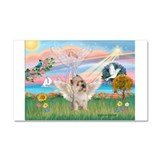 Cloud Angel/2Cairn Terrier Car Magnet 20 x 12