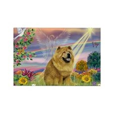 Cloud Angel & Chow Chow Rectangle Magnet (10 pack)