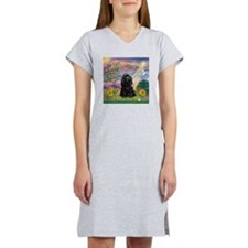 Cloud Angel/Black Cocker Women's Nightshirt