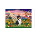 Autumn Angel/Collie Car Magnet 20 x 12