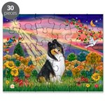 Autumn Angel/Collie Puzzle