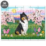Blossoms / Collie (tri) Puzzle