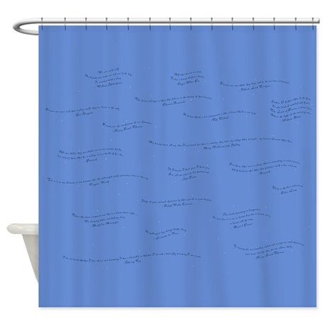 Dream Quotes Shower Curtain By Artoffoxvox