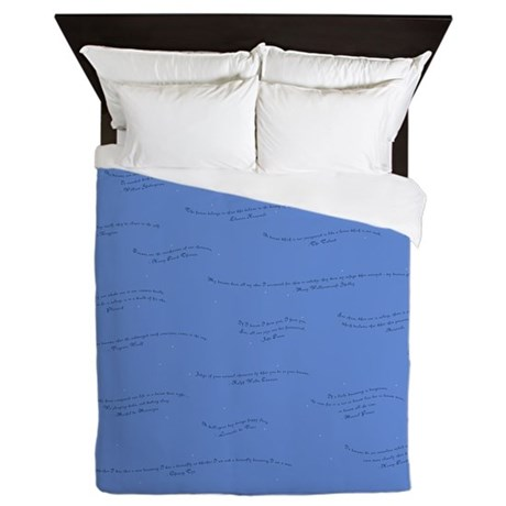 Dream Quotes Queen Duvet