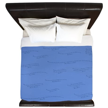 Dream Quotes King Duvet