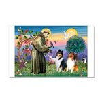 St Francis / Collie Pair Car Magnet 20 x 12