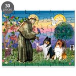 St Francis / Collie Pair Puzzle
