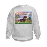 Cloud Angel & Dachshund (WH) Sweatshirt