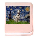 Starry Night & Dalmatian baby blanket