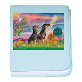Cloud Angel & Dobie Pair baby blanket