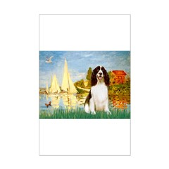 Sailboats & Springer Mini Poster Print