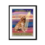 Blessed Golden Framed Panel Print