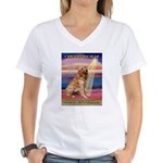 Blessed Golden Women's V-Neck T-Shirt