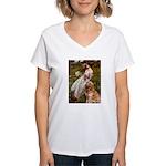 Windflowers & Golden Women's V-Neck T-Shirt