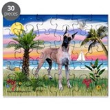 Great Dane in Palms Trees Puzzle
