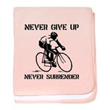 Never Give Up Biker baby blanket