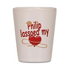 Philip Lassoed My Heart Shot Glass