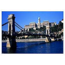 Szechenyi Bridge Royal Palace Budapest Hungary