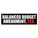 Balanced Budget Amendment Sticker (Bumper 10 pk)