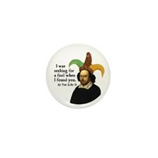 Cute William shakespeare Mini Button (10 pack)