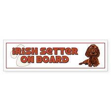 Irish Setter on Board Bumper Car Sticker