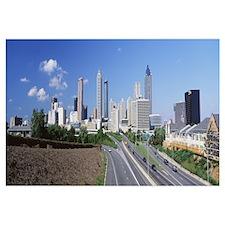 Freedom Parkway and skyline Atlanta GA