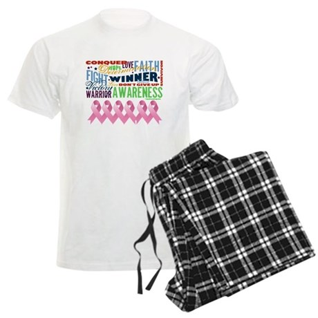 Empowering Breast Cancer Men's Light Pajamas
