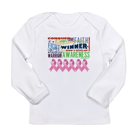 Empowering Breast Cancer Long Sleeve Infant T-Shir