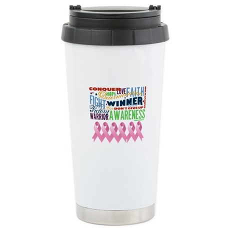 Empowering Breast Cancer Ceramic Travel Mug