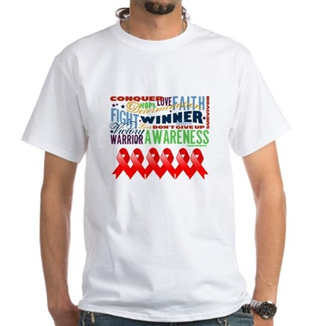 Empowering Blood Cancer White T-Shirt