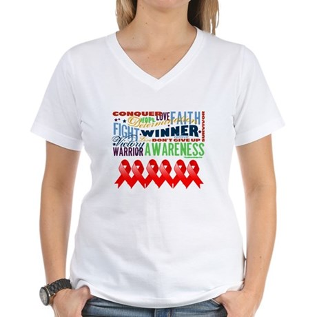 Empowering Blood Cancer Women's V-Neck T-Shirt