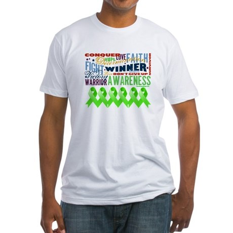 Empowering Lymphoma Fitted T-Shirt