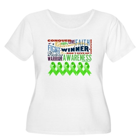 Empowering Lymphoma Women's Plus Size Scoop Neck T