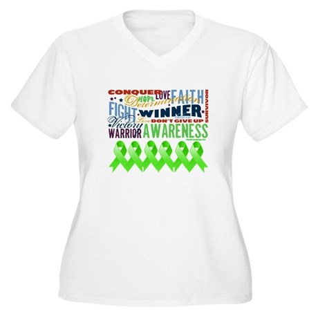 Empowering Lymphoma Women's Plus Size V-Neck T-Shi