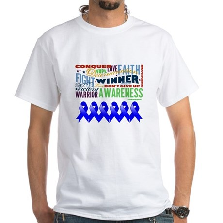 Empowering Colon Cancer White T-Shirt