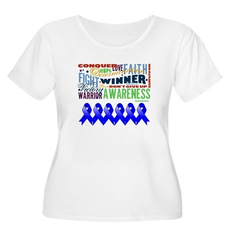 Empowering Colon Cancer Women's Plus Size Scoop Ne
