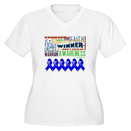 Empowering Colon Cancer Women's Plus Size V-Neck T