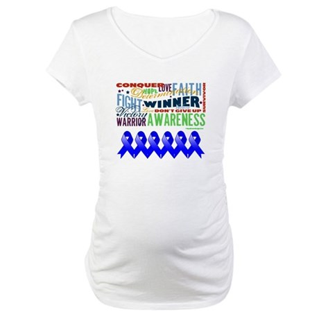 Empowering Colon Cancer Maternity T-Shirt