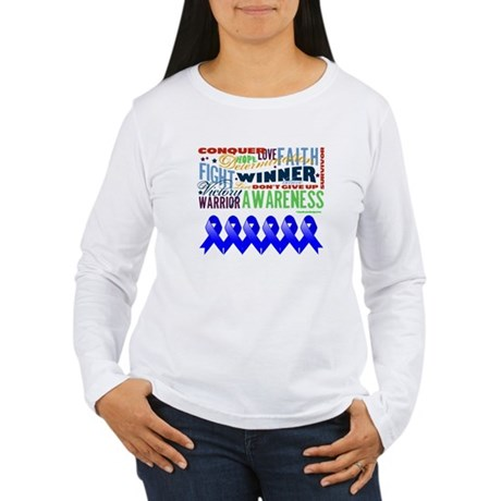Empowering Colon Cancer Women's Long Sleeve T-Shir