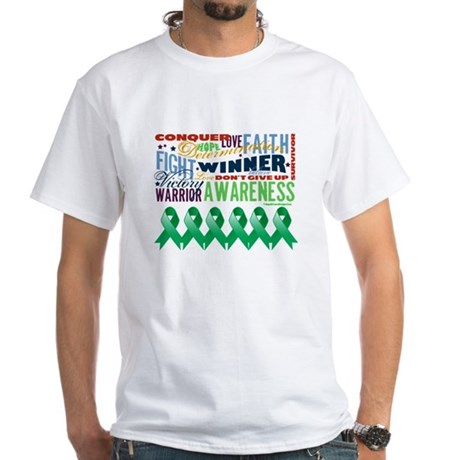 Empowering Liver Cancer White T-Shirt