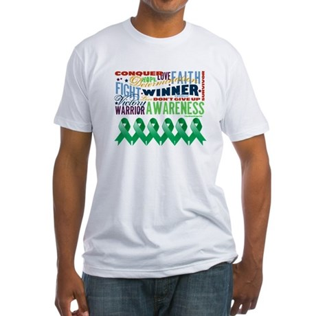 Empowering Liver Cancer Fitted T-Shirt