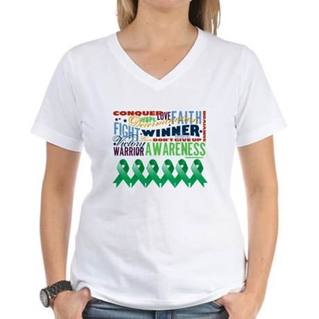 Empowering Liver Cancer Women's V-Neck T-Shirt
