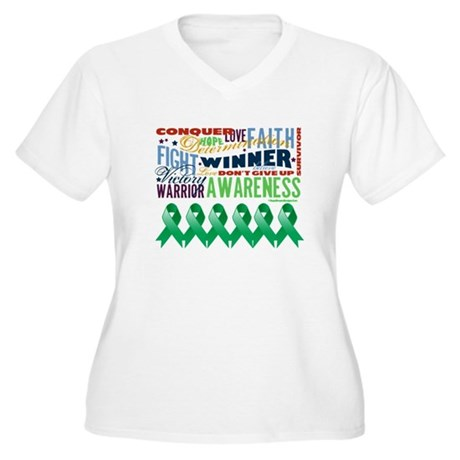 Empowering Liver Cancer Women's Plus Size V-Neck T