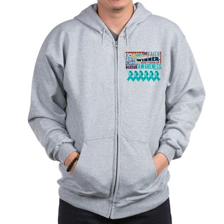 Empowering Ovarian Cancer Zip Hoodie
