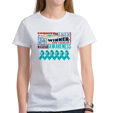 Empowering Ovarian Cancer Women's T-Shirt