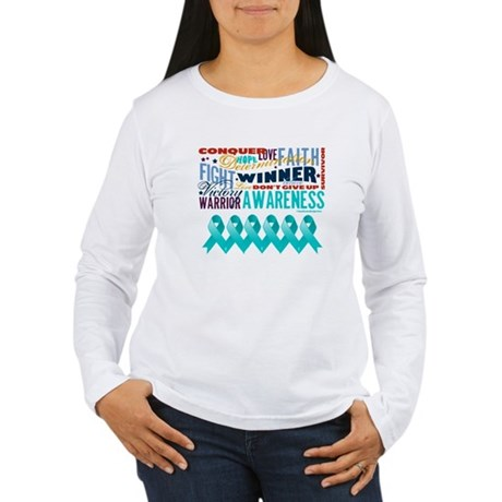 Empowering Ovarian Cancer Women's Long Sleeve T-Sh