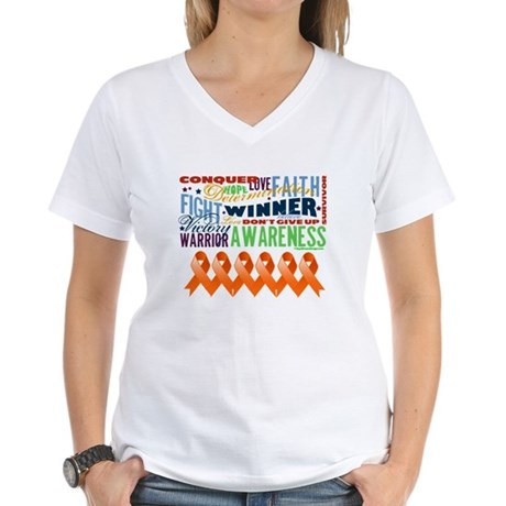 Empowering Leukemia Women's V-Neck T-Shirt
