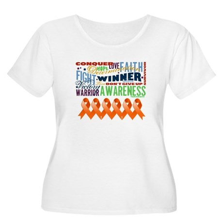 Empowering Leukemia Women's Plus Size Scoop Neck T